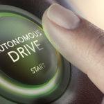 Startknop voor zelfrijdende automodus